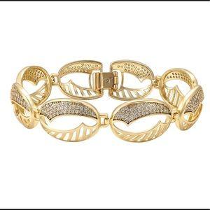 14k laminated gold bracelet